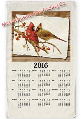 2016 Cardinal Pair Calendar Towel