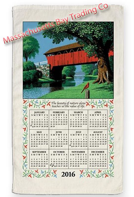 2016 Country Bridge Calendar Towel