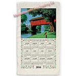 2016 Country Bridge Calendar Towel