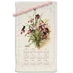 2016 Vintage Floral Calendar Towel