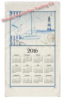 2016 Blue Sea Calendar Towel