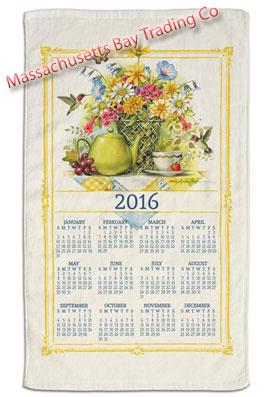 2016 Wildflower Tea Calendar Towel