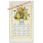 2016 Wildflower Tea Calendar Towel