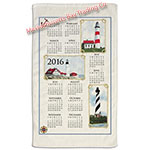 2016 Lighthouse Calendar Towel