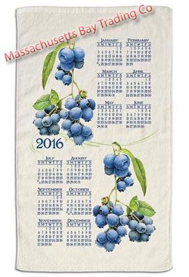 2016 Summer Blueberry Calendar Towel
