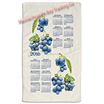 2016 Summer Blueberry Calendar Towel