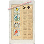 2016 Four Seasons Birds Calendar Towel