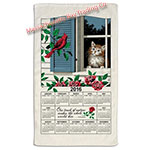 2016 Window Kitty Calendar Towel