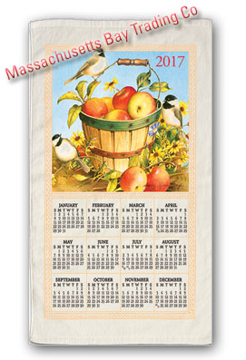 2017 Apple Basket Calendar Towel