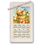 2017 Apple Basket Calendar Towel