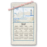 2017 Blue Sea Calendar Towel