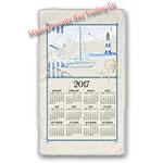 2017 Blue Sea Calendar Towel