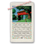 2017 Country Bridge Calendar Towel