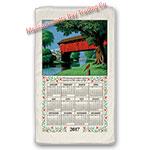 2017 Country Bridge Calendar Towel