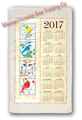 2017 Four Seasons Birds Calendar Towel