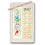 2017 Four Seasons Birds Calendar Towel