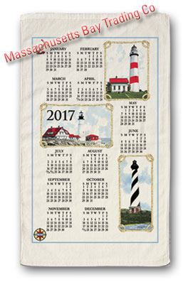2017 Lighthouses Calendar Towel