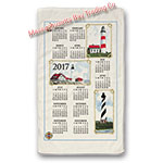 2017 Lighthouse Calendar Towel