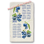 2017 Summer Blueberry Calendar Towel