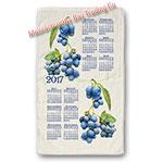 2017 Summer Blueberry Calendar Towel