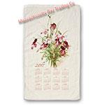 2017 Vintage Floral Calendar Towel