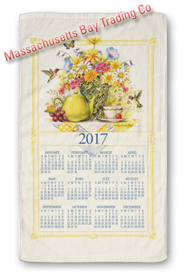2017 Wildflower Tea Calendar Towel