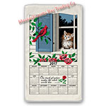 2017 Window Kitty Calendar Towel