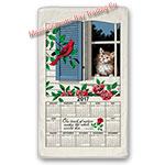 2017 Window Kitty Calendar Towel