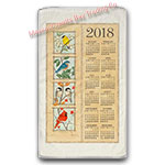 2018 Four Seasons Birds Calendar Towel