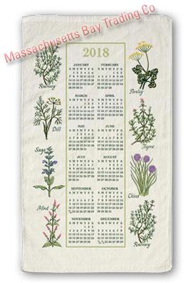 2018 Kitchen Herbs Calendar Towel