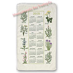 2018 Kitchen Herbs Calendar Towel