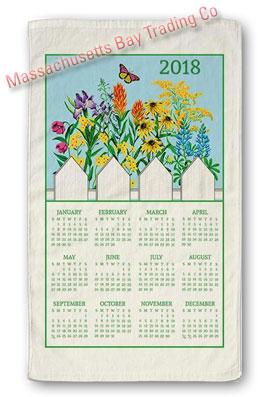 2018 Wildflower Blue Skies Calendar Towel