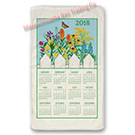 2018 Wildflower Blue Skies Calendar Towel