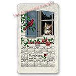 2018 Window Kitty Calendar Towel