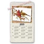 2018 Cardinal Pair Calendar Towel