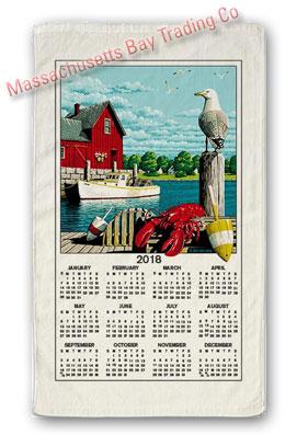 2018 Nautical Scenic Calendar Towel