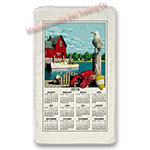 Nautical Scenic 2018 Calendar Towel