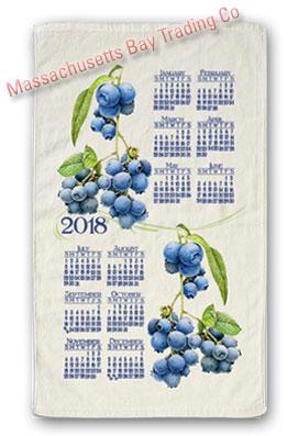 2018 Summer Blueberry Calendar Towel