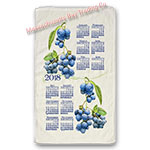 2018 Summer Blueberry Calendar Towel