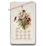 2018 Vintage Floral Calendar Towel