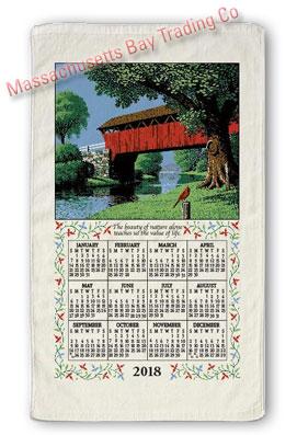 2018 Country Bridge Calendar Towel