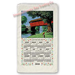 2018 Country Bridge Calendar Towel