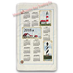2018 Lighthouse Calendar Towel