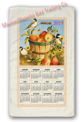 2019 Apple Basket Calendar Towel