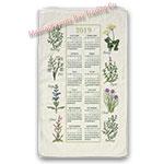 2019 Kitchen Herb Calendar Towel