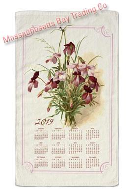 2019 Vintage Floral Calendar Towel