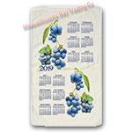 2019 Summer Blueberry Calendar Towel