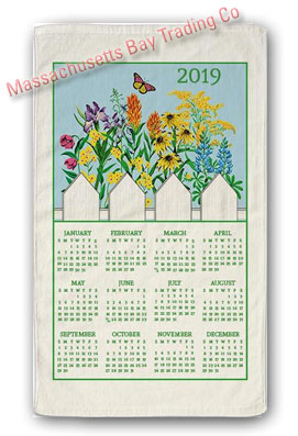 2019 Wildflower Blue Skies Calendar Towel