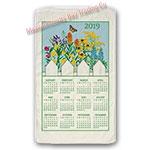 2019 Wild Flower Blue Skies Calendar Towel
