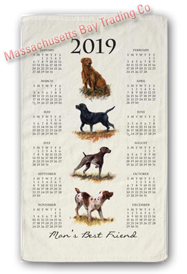 2019 Man's Best Friend Calendar Towel